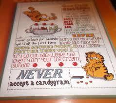 Garfield cross stitch