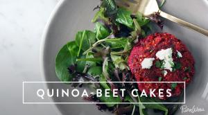 Quinoa beet cakes