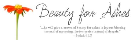 Image result for beauty for ashes