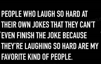 People who laugh hard